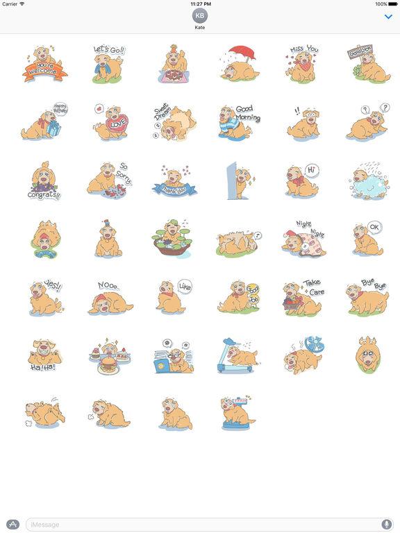 Fluffy Golden Retriever Stickers screenshot 4
