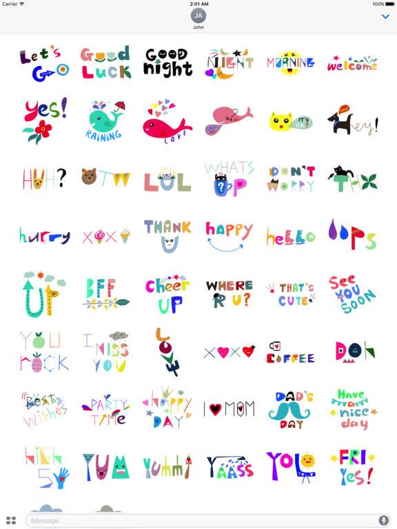 WordMine - Doodle Words Stickers screenshot 7