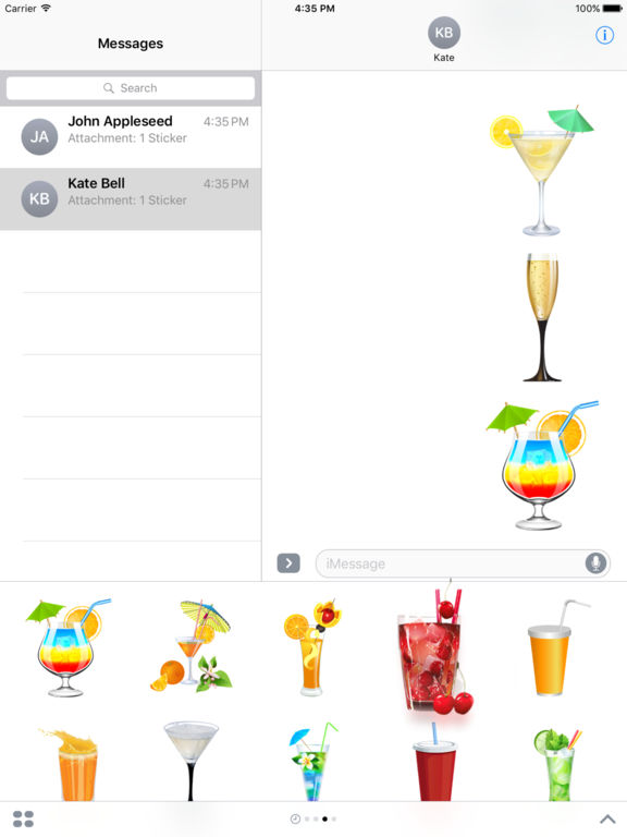 Beautiful Cocktails Stickers for iMessage screenshot 6