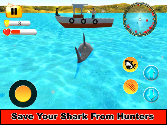Sea Shark Attack : Eat Swimmers To Complete Level screenshot 8