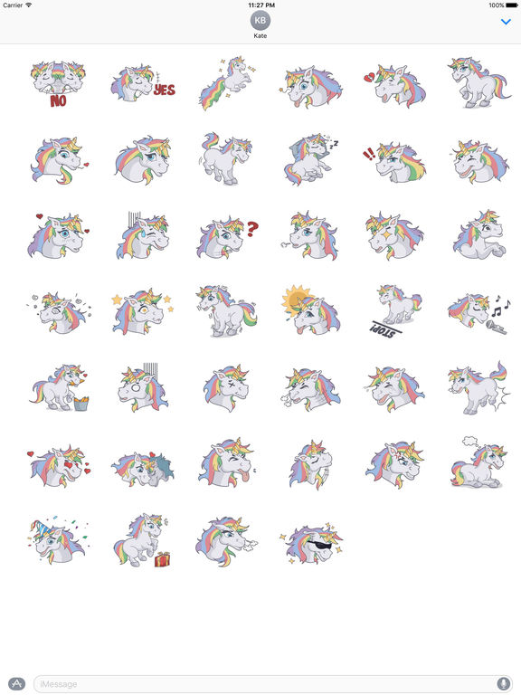 Lots Of Stickers Of Lovely Colorful Unicorn screenshot 4