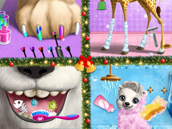 Christmas Animal Hair Salon 2 - No Ads screenshot 10