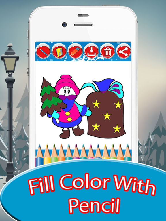 Kids Doodle Drawing Pad - Christmas Coloring screenshot 8