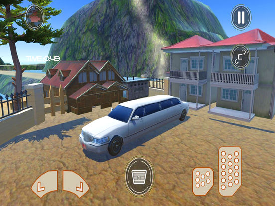 Off-Road Limo Hill Climber : 3D Car Par-king 2016 screenshot 4
