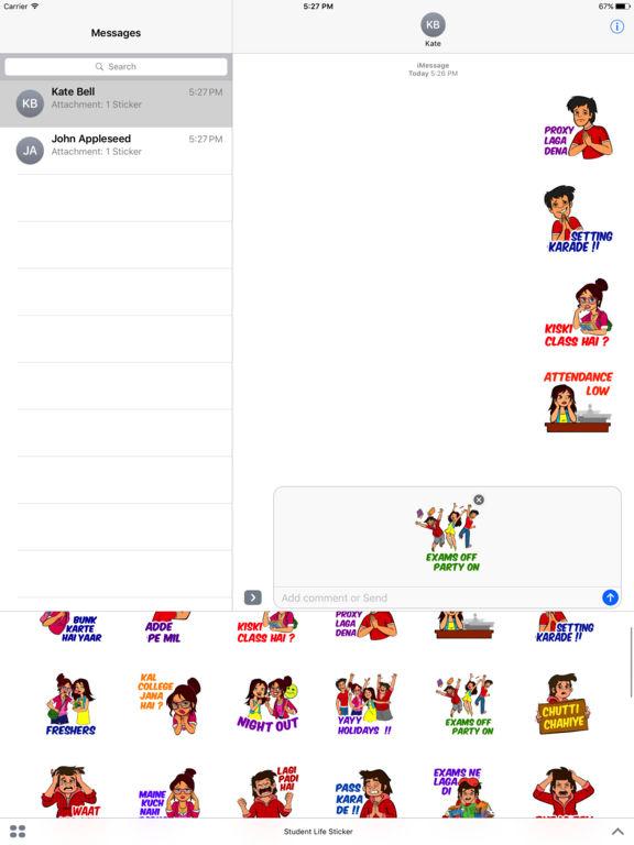 Student Life Cracking Stickers screenshot 5