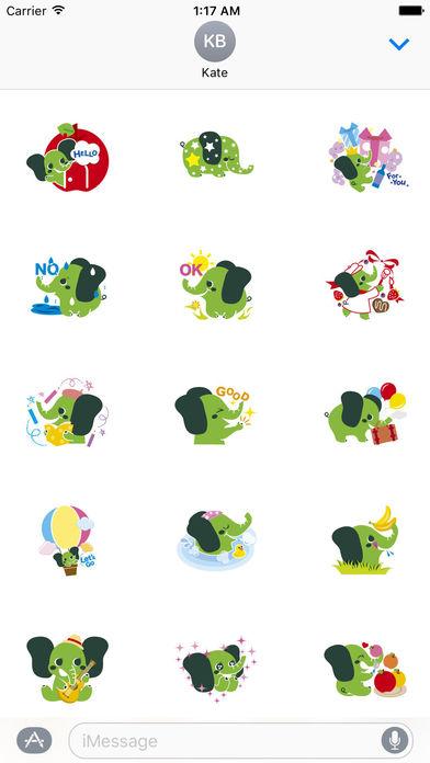 Colorful Elephant Sticker screenshot 1