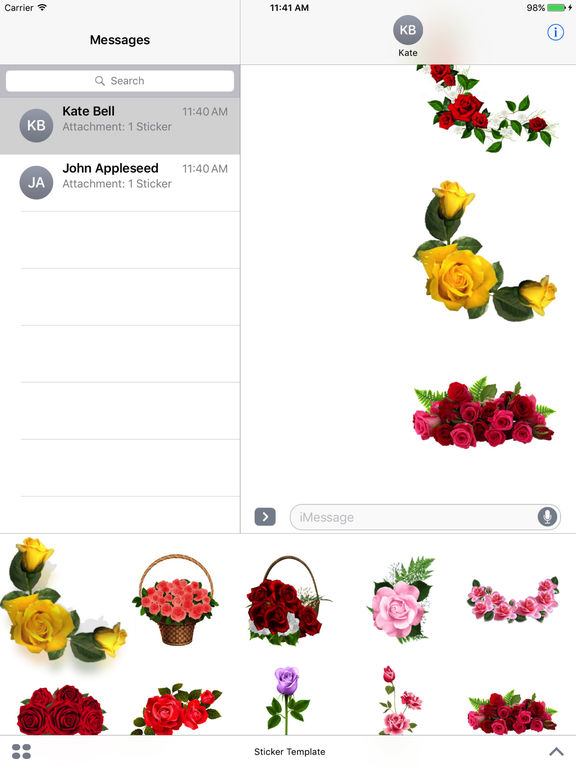 Flower Bouquets Bundle Stickers screenshot 8