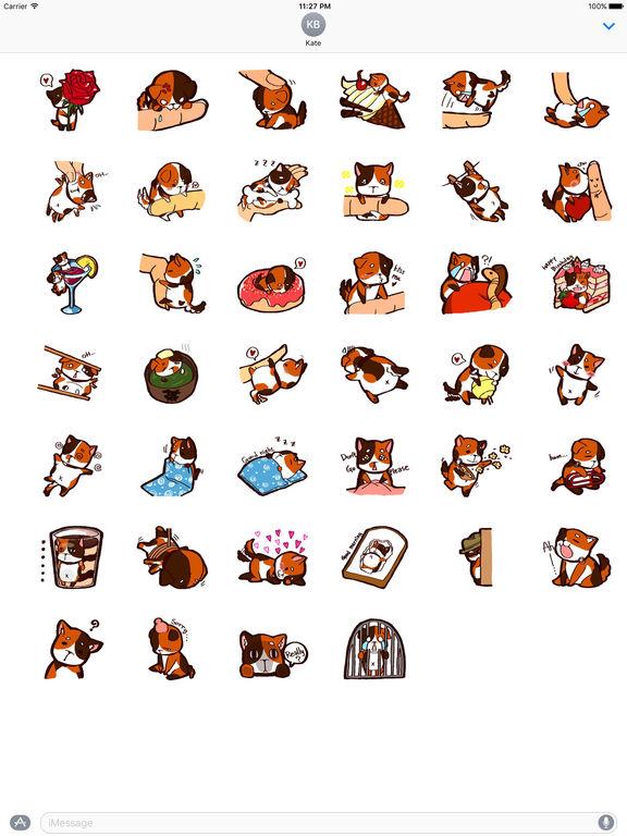 Tricolor Mini Dog Sticker Pack screenshot 4