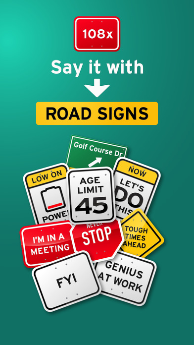 100+ Funny Road Signs Sticker Pack screenshot 1