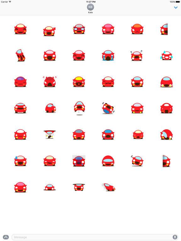 Cute Red Car Carmoji Stickers screenshot 4