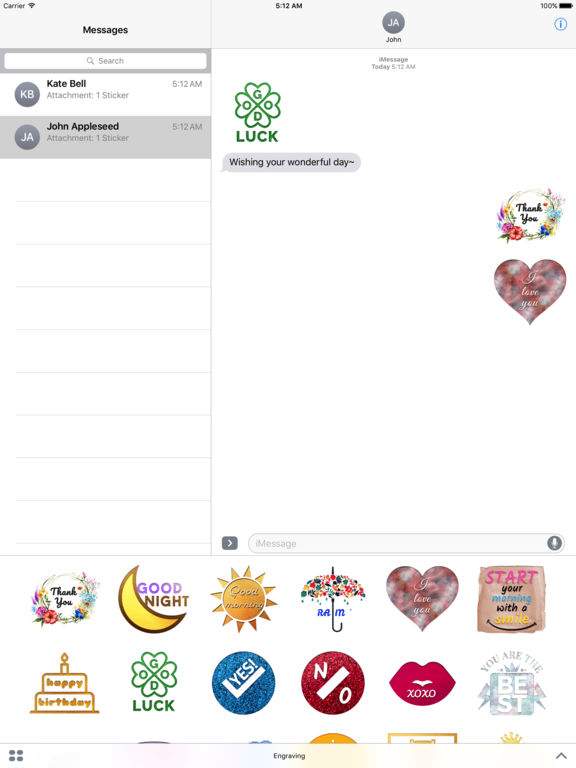 Engraving - Animated Chat Badge Stickers screenshot 7