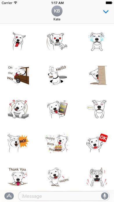 Pit Bull Dog Emoji Stickers screenshot 2