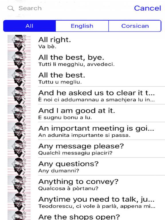 Corsican Phrases Diamond 4K Edition screenshot 4