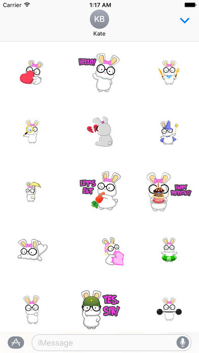Animated Adorable Rabbit Stickers screenshot 1