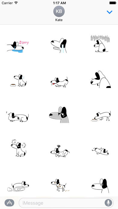 Funny Bull Terrier Dog Sticker screenshot 2