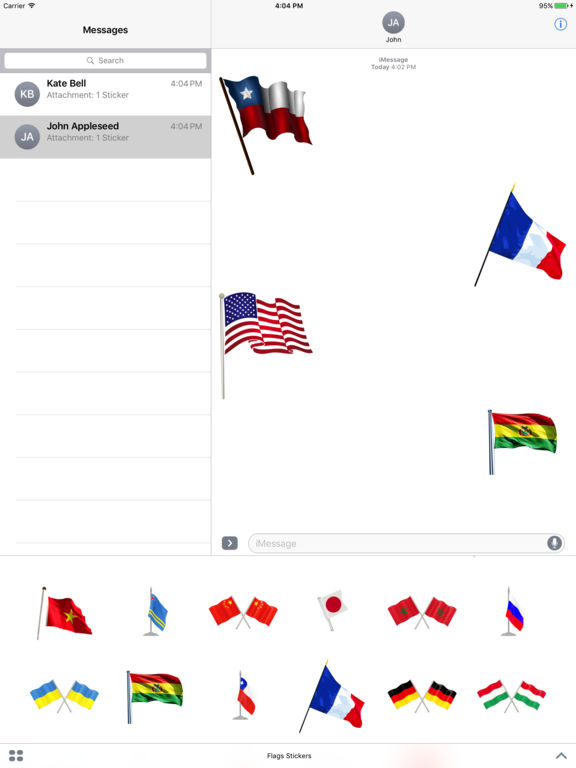 Flags Stickers Pack screenshot 3
