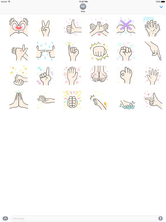 Animated Language Of Hands Sticker screenshot 3