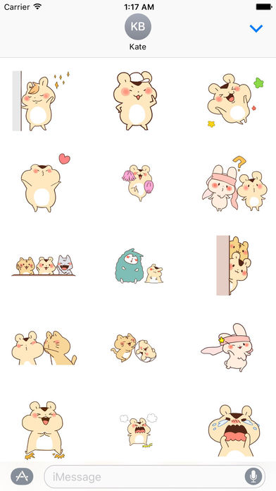 Adorable Hamster And Friends Animated Sticker Pack screenshot 1