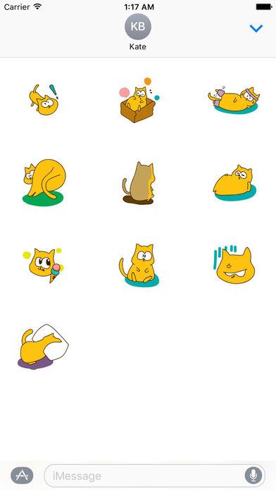 Father's Day 2017 Of Cute Cat Sticker screenshot 3