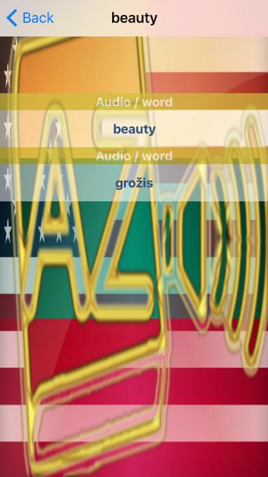 Lithuanian Dictionary GoldEdition screenshot 5