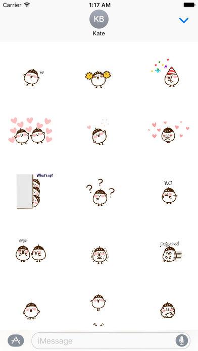 Animated Cute Acorn Stickers screenshot 1