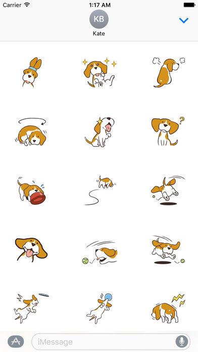 Cute and Smart Beagle Dog Sticker screenshot 1
