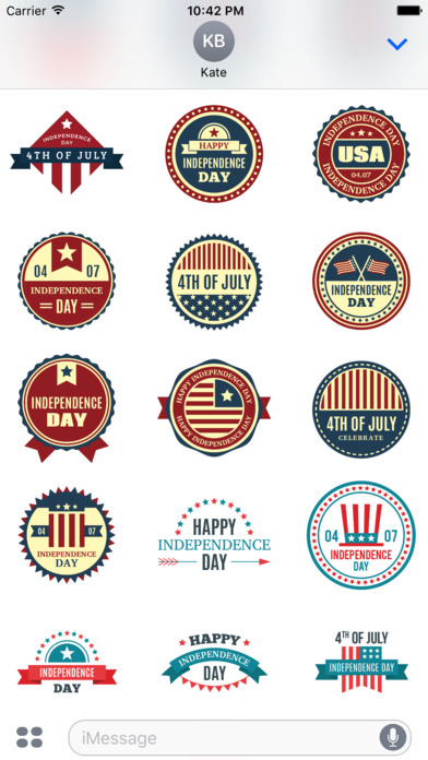 4th of July - 120+ Badge Independence Day Stickers screenshot 5