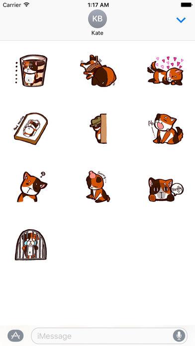Tricolor Mini Dog Sticker Pack screenshot 3