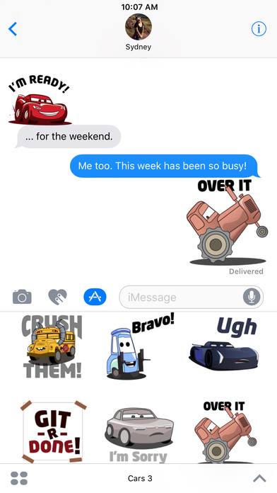 Pixar Stickers: Cars 3 screenshot 3
