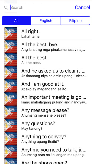 Filipino Phrases Diamond 4K Edition screenshot 1