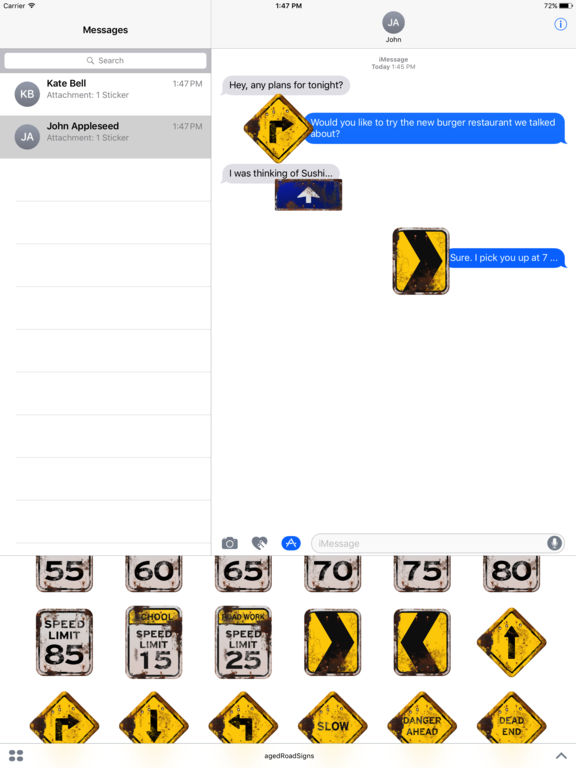 100+ Aged Road Signs Sticker Pack (Rusty) screenshot 8