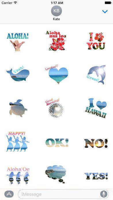 Aloha Hawaii Sticker screenshot 1