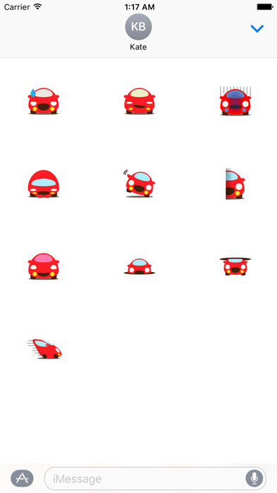 Cute Red Car Carmoji Stickers screenshot 3