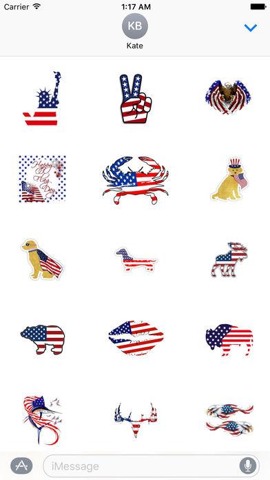 Happy Flag Day 2017 Sticker screenshot 1