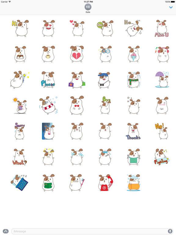Chubby Hamster Sticker screenshot 4
