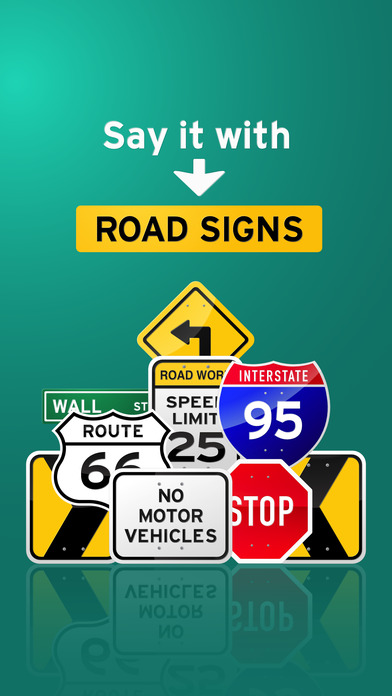 100+ Glossy Road Signs Sticker Pack screenshot 1