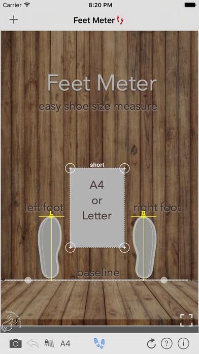 Shoe Size Meter - foot length screenshot 1