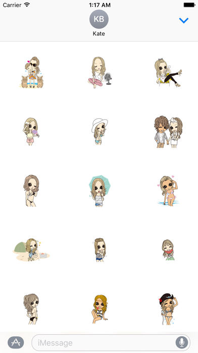 Beautiful Girls in Summer Sticker screenshot 3