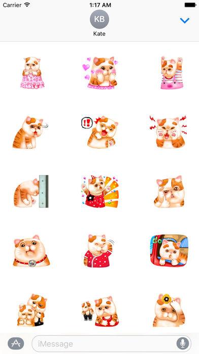 So Cute Cat Cartoon Sticker screenshot 2