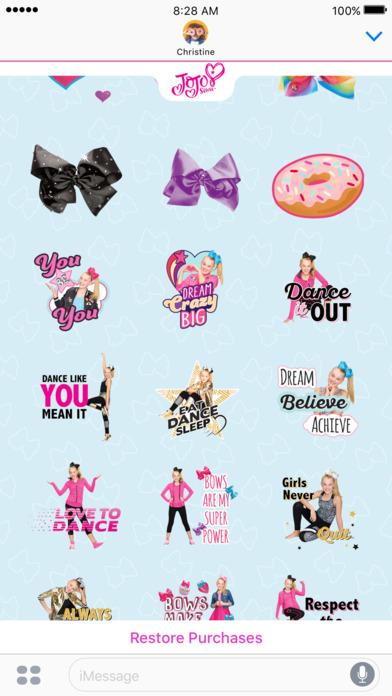 JoJo Siwa Stickers screenshot 3