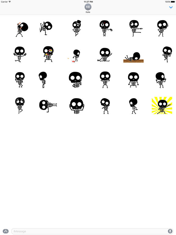 Funny Skeleton Animated Sticker screenshot 3