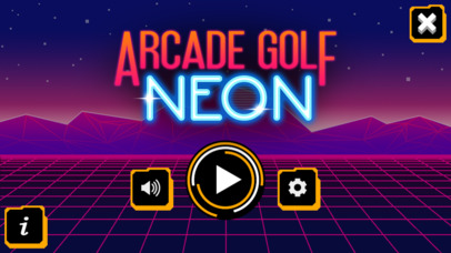 Arcade Golf: NEON screenshot 2