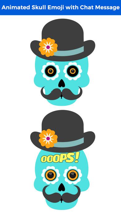 Animated Funny Skull Emoji screenshot 2