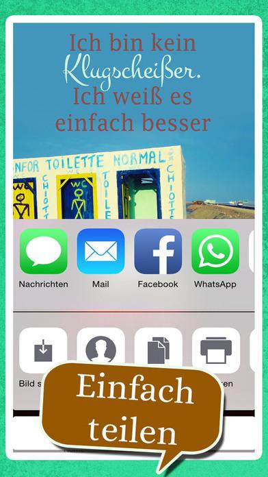 Coole neue Sprüche - Spruchbilder Witze zum Posten screenshot 4