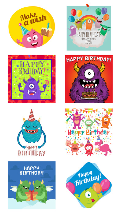 Birthdaye Card - Best Wishes with Cute Monsters screenshot 5