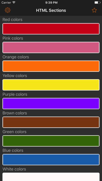 HTML Color codes. WEB Palette screenshot 1