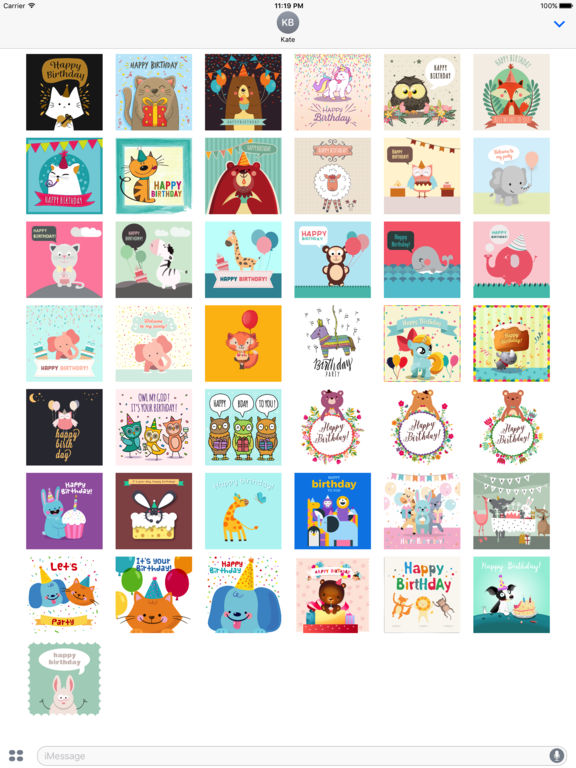 Birthday Card - Best Wishes with Cute Animals screenshot 6