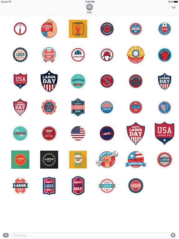 Happy Labor Day 2017 Sticker screenshot 4