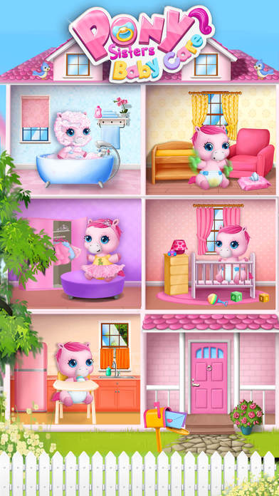 Pony Sisters Baby Horse Care - No Ads screenshot 2