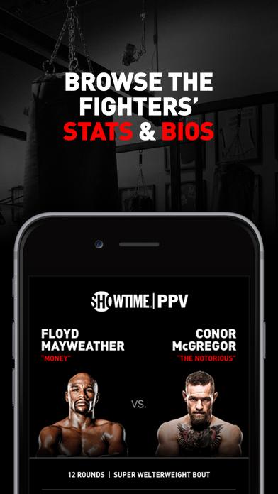 SHOWTIME PPV- Mayweather vs. McGregor- Stream Live screenshot 4